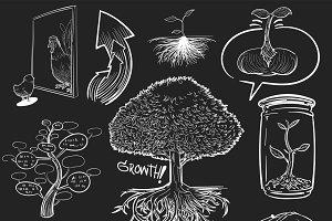 Illustration of growth development