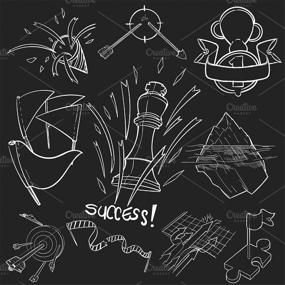 Illustration Set Of Successful