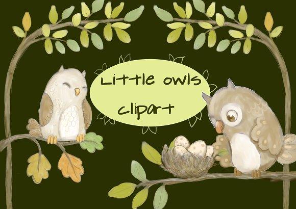 Little Owls Clipart