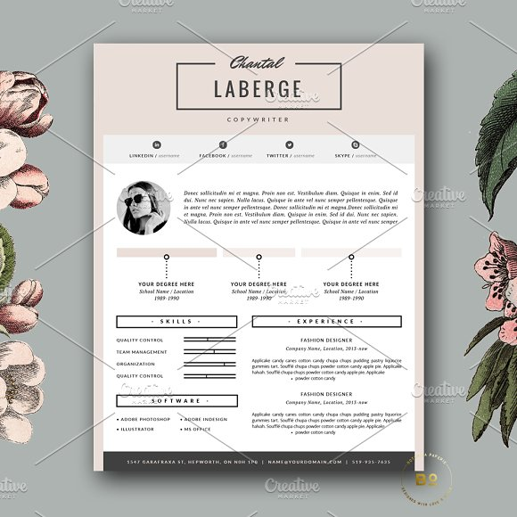 3 Page Resume Template for MS Word - Resumes