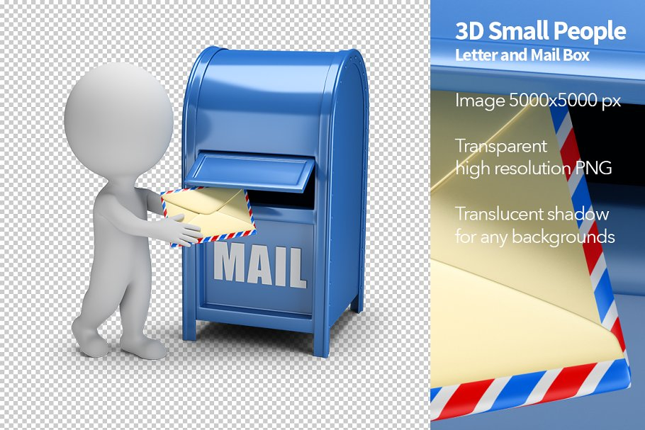 Save. Letter and Mail Box