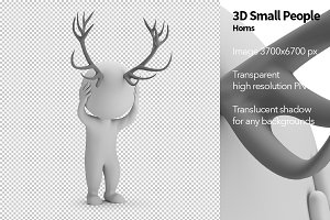 3D Small People - Horns