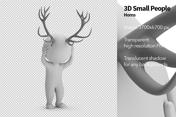 3D Small People Horns