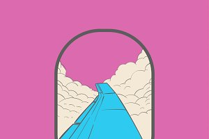 Illustration of wanderlust concept