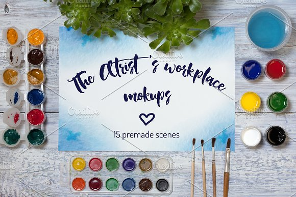 The Artist's Workplace Mockups