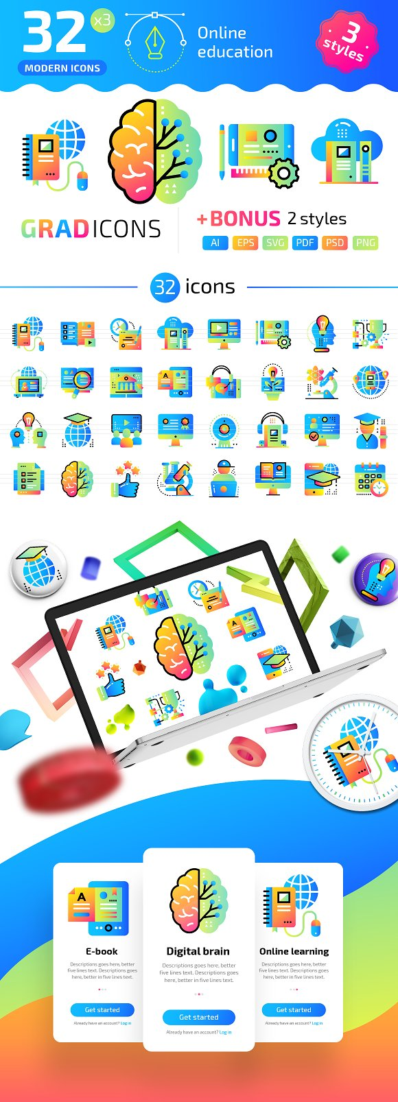 32 Online Education GRADICONS