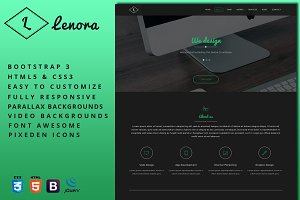 Lenora - One-Page Business Template