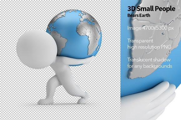 3D Small People Bears Earth