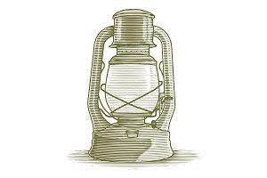 Woodcut Lantern