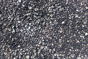 Horizontal black and white pebble ground texture background