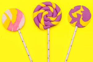 Fashion Lollipop Candy Minimal Flatl