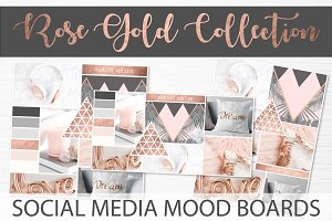 Social Media Mood Boards - Rose Gold
