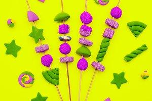 Candy barbecue Sweet Fashion art. Fl