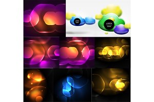 Blurred neon shiny backgrounds