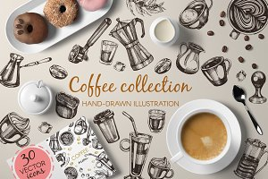 Coffee -  hand drawn icons