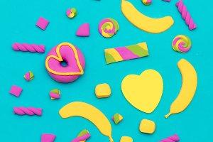 Sweet Candy fashion Art Minimal