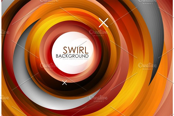 Spiral Swirl Flowing Lines 3D Vector Abstract Background