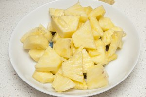 juicy chunks of pineapple