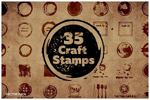 35 Vector Craft Stamps