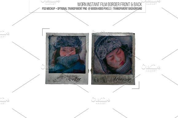 Used Instant Film Border Frame