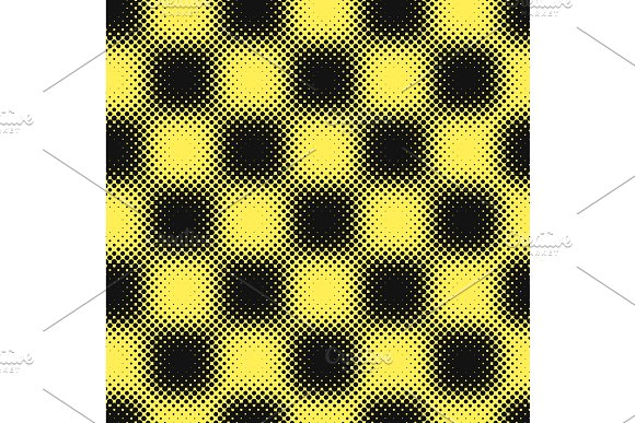 Yellow Black Halftone Background Vector