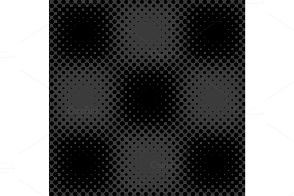 Dark Grey Black Halftone Background Vector
