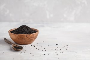 Nigella sativa or Black cumin