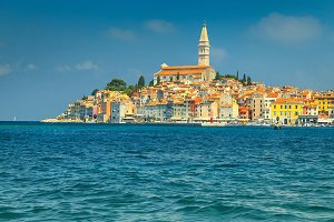 Famous Rovinj touristic town