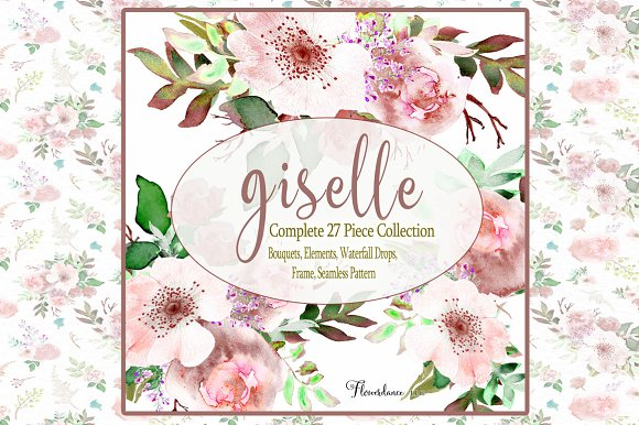 Watercolor Clipart Giselle