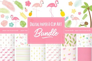Tropical Flamingo Bundle