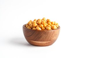 chickpeas isolated on white