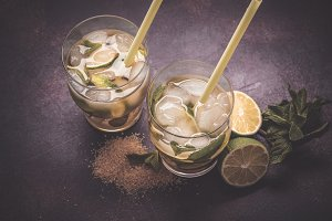 Brazilian traditional caipirinha