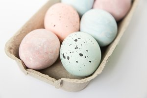 Easter eggs,pastel light colors