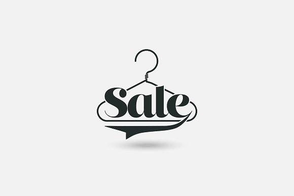 Clothes Hanger Logo Sale Icon