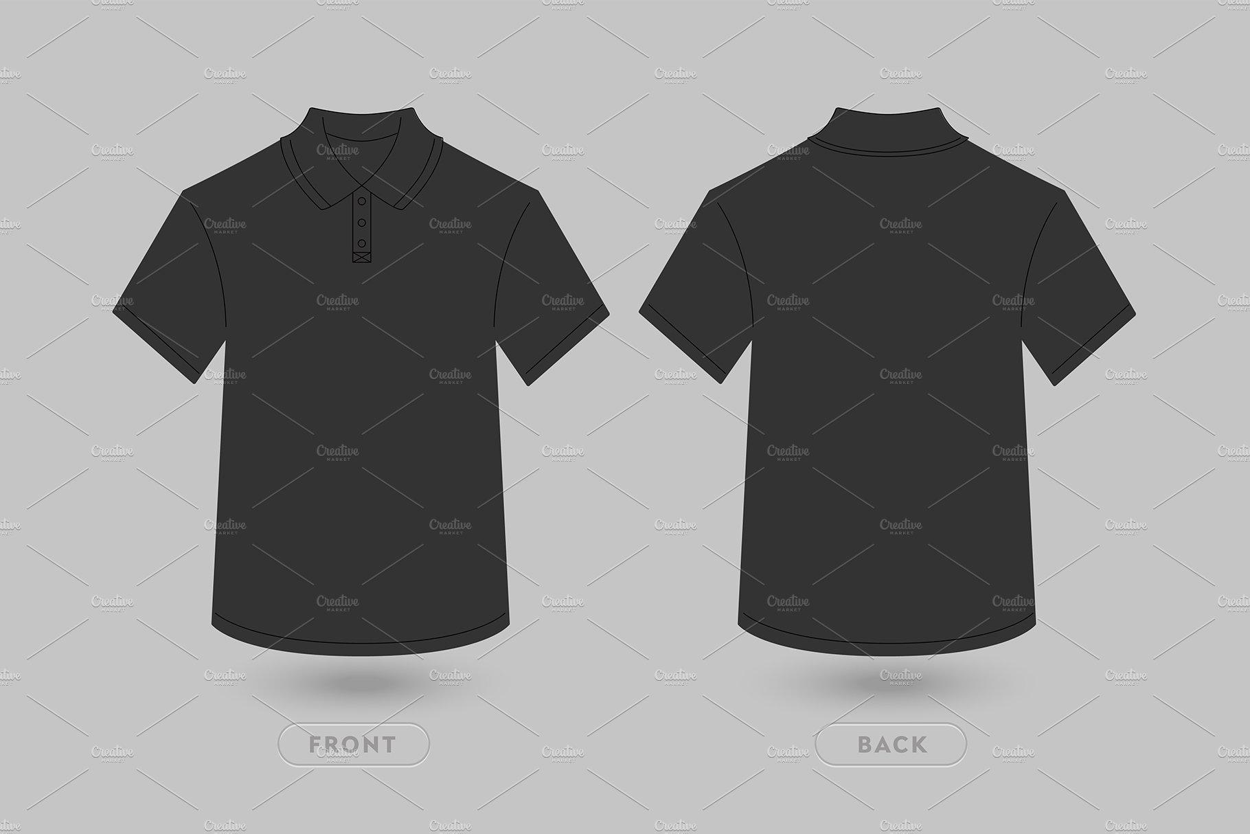 933582e46 Polo T Shirt Vector Mockup ~ Product Mockups ~ Creative Market