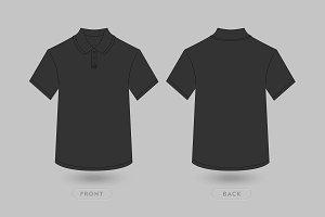 Polo T Shirt Vector Mockup