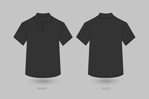 Polo T Shirt Vector Mockup