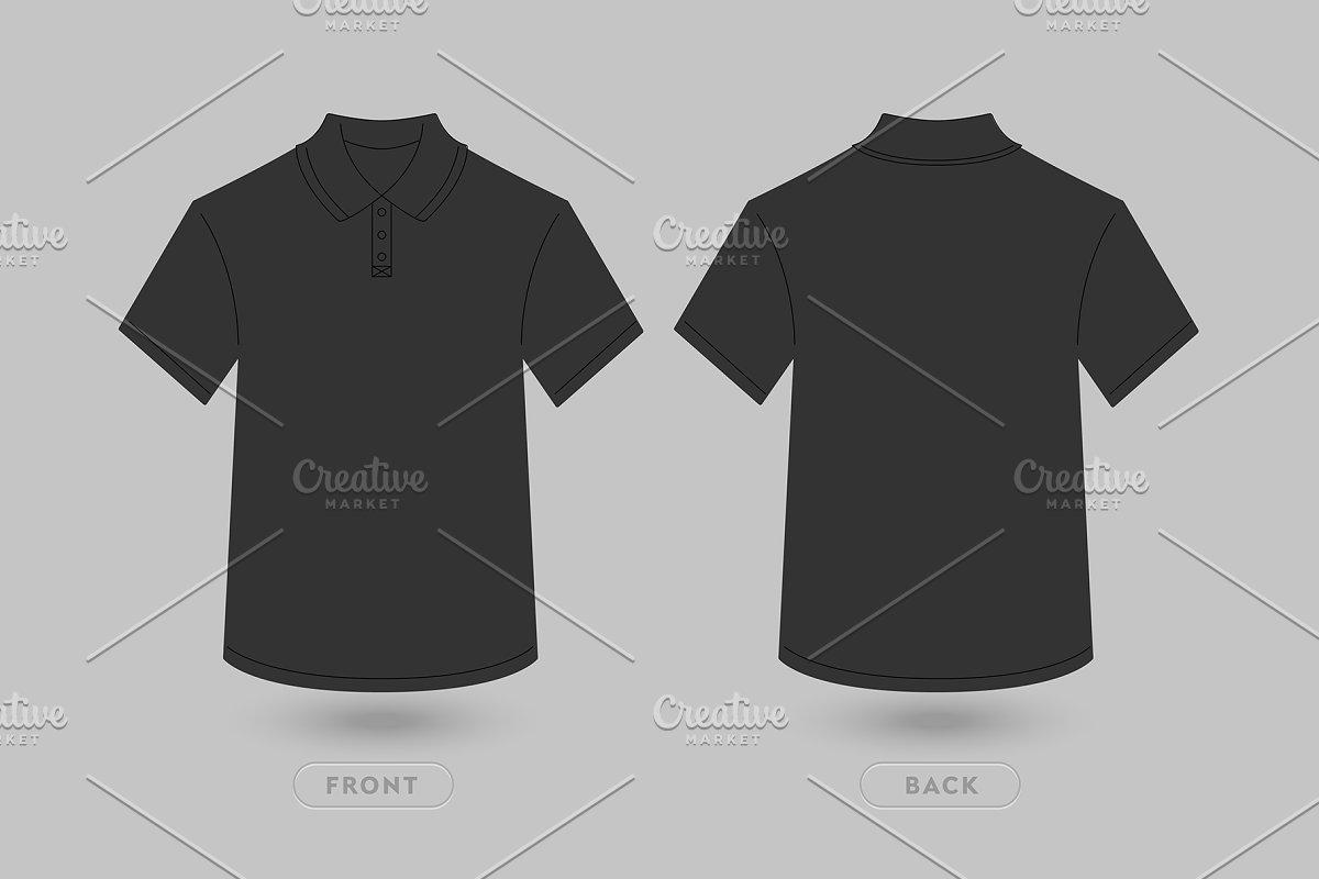 ec68c56f9 Polo T Shirt Vector Mockup ~ Product Mockups ~ Creative Market