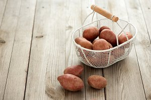 Organic potatoes for healthy cooking