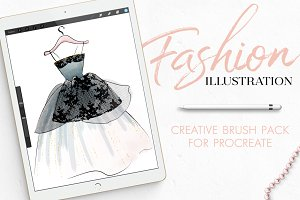 Procreate Fashion Illustration Set