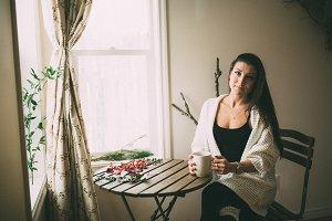 Girl with Tea by Window (3/7)