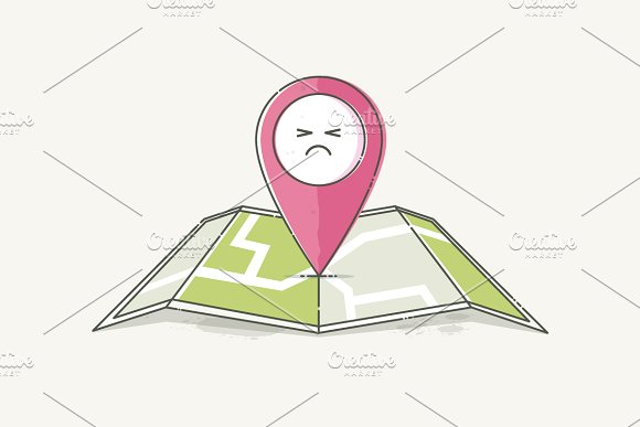 Location Marker Emotion Angry