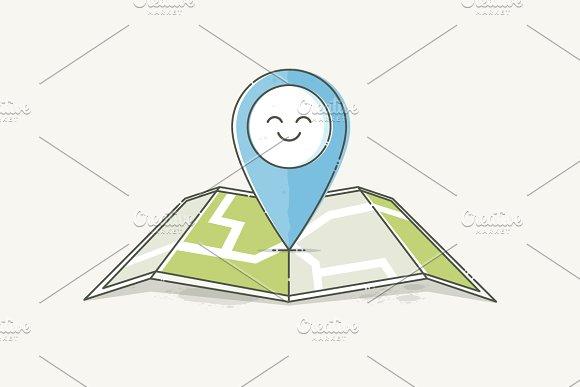 Location Marker Emotion Happy