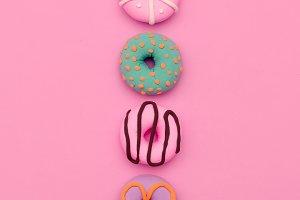 Fashion Donut Mix. Pink Candy Minima