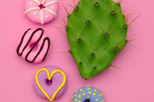 Fashion Donut Mix. Pink Candy