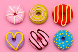 Fashion Donut Mix. Pink Candy Mini
