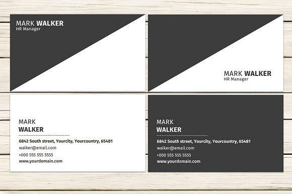 Yin Yang Business Card Template