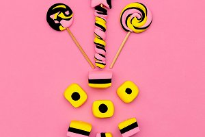 Lollipop and Sweet Candy Set. Fashio