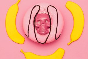 Candy Minimal Set. Flatlay art.