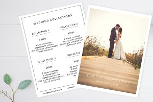 Wedding Price Guide Template